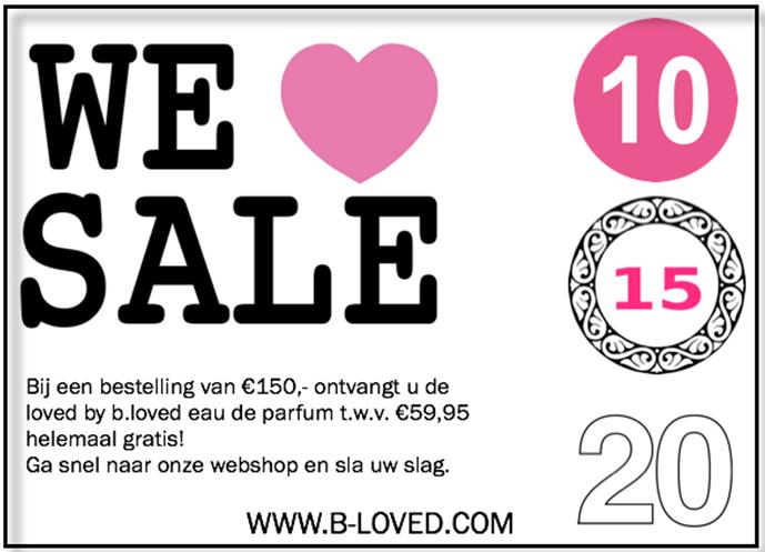 Tot 85% korting - ronde prijzen @ B.Loved (+ gratis b.loved eau de parfum bij min €150)