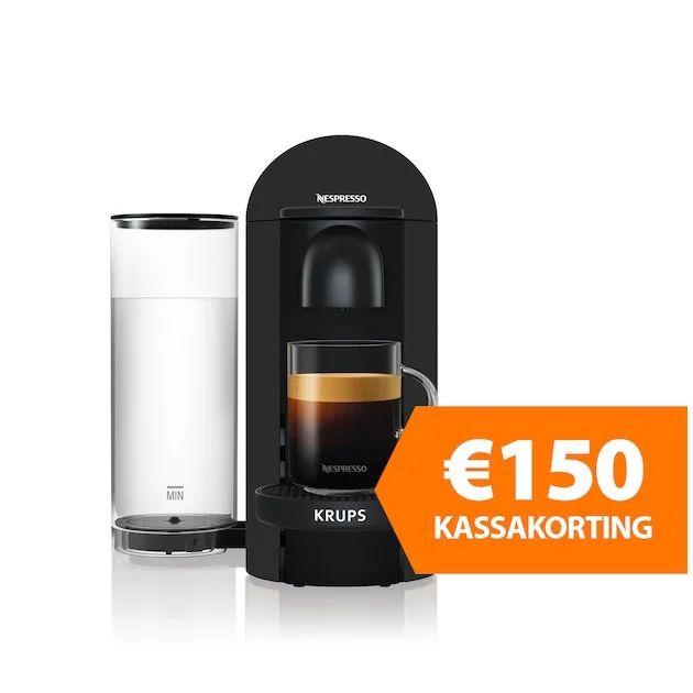€150,00 kassakorting op Krups Nespresso Vertuo