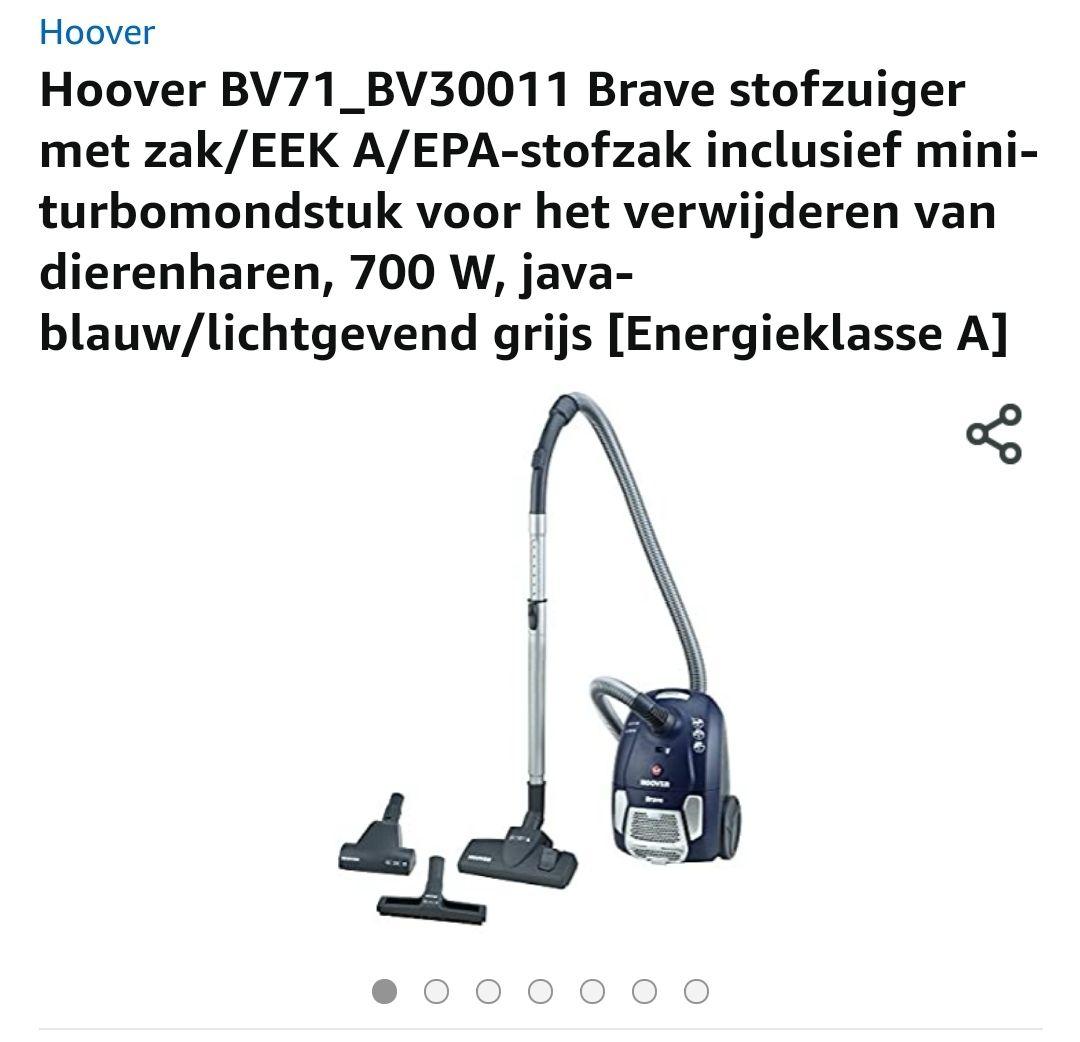 Hoover BV71_BV30011 Stofzuiger € 54,24 @ Amazon, elders vanaf € 99