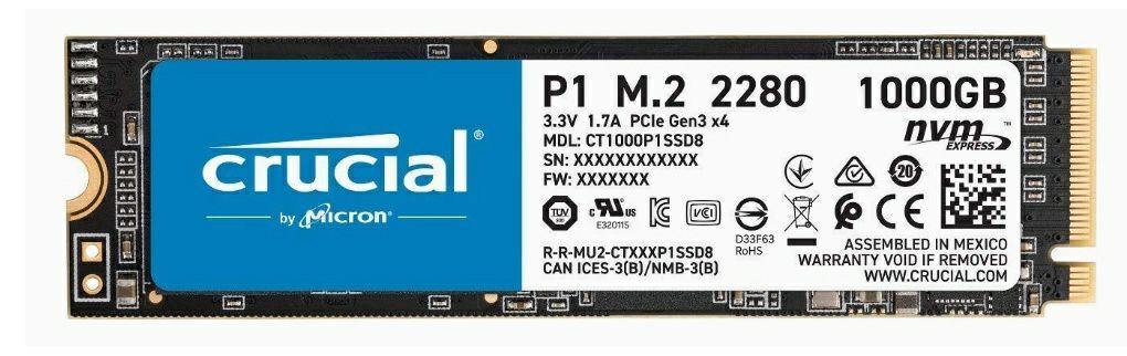 Crucial P1 1TB M.2 NVMe