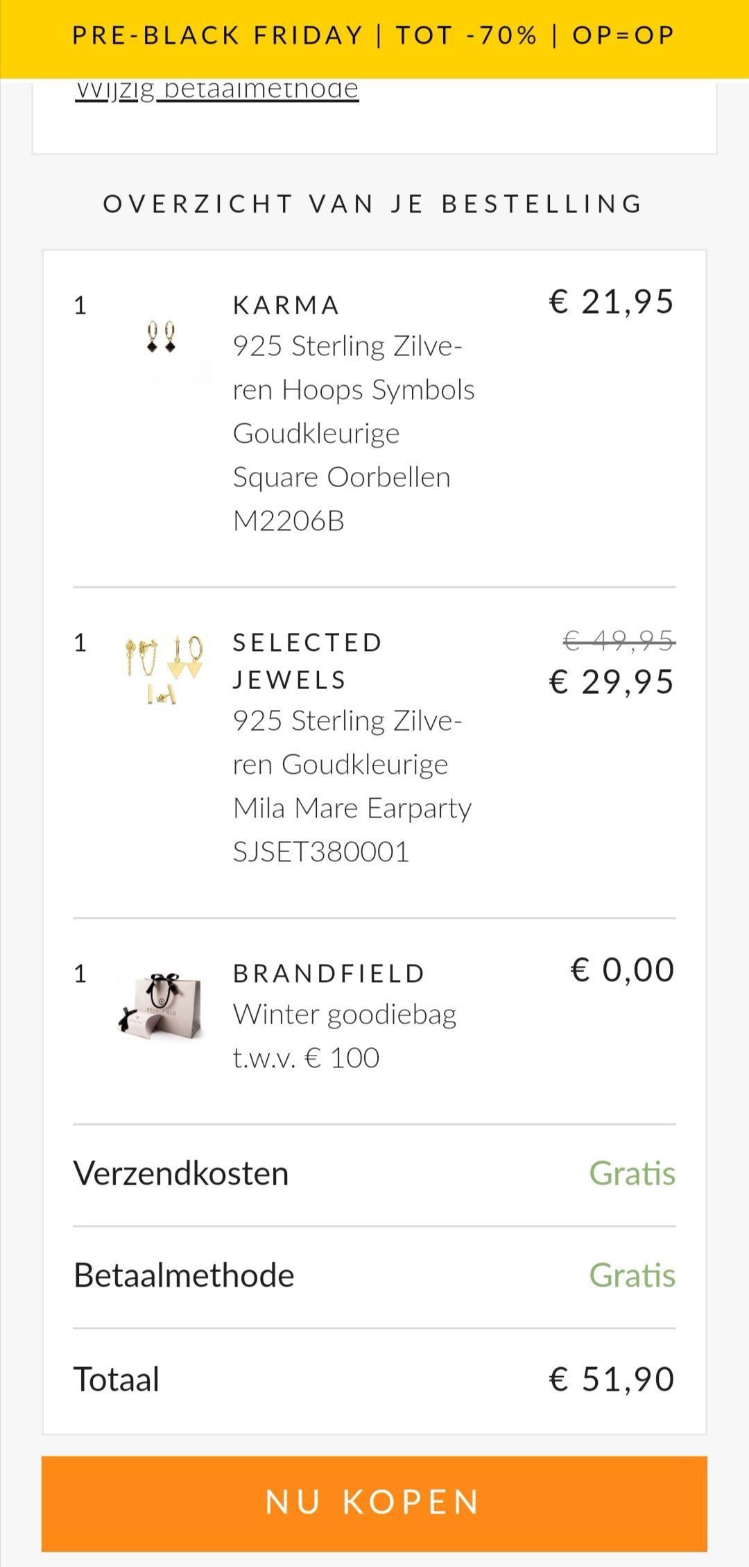 Brandfield Goodiebag t.w.v. €100