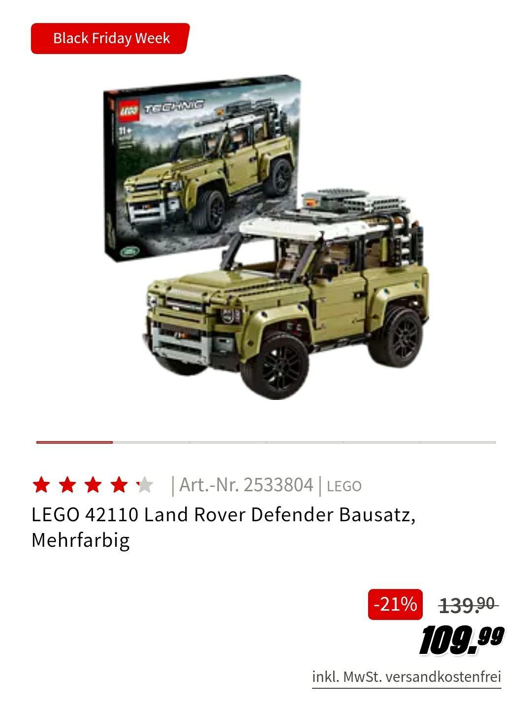Grensdeal: LEGO 42110 Land Rover Defender