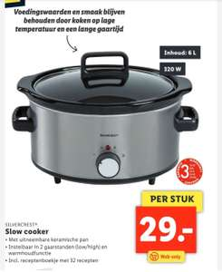Silvercrest Slow cooker 6L @Lidl Shop