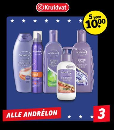 Andrelon 5 voor 10 euro