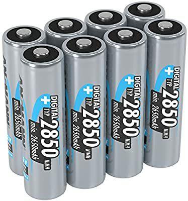 (8 stuks) ANSMANN AA 2.850 mAh (min. 2.650 mAh) NiMH 1,2 V - oplaadbare penlitebatterijen AA