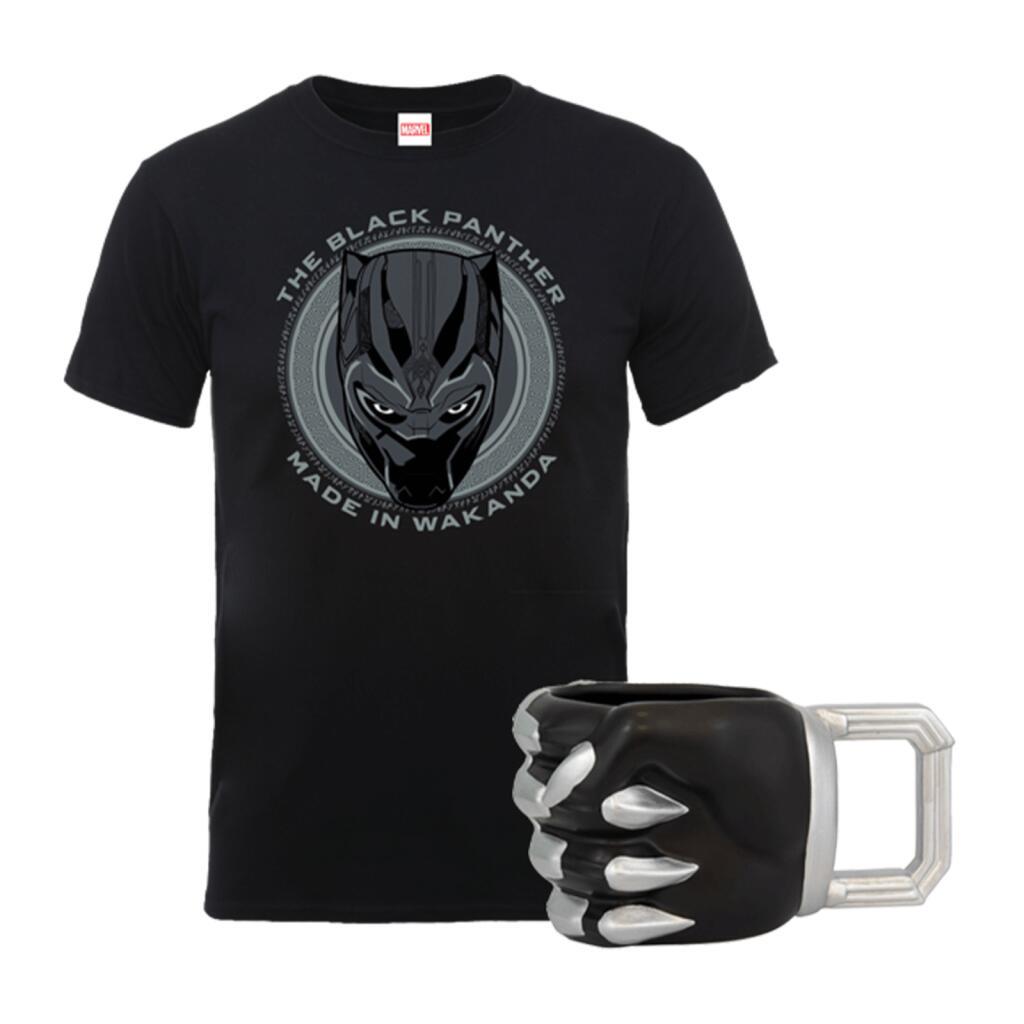 Marvel Black Panther t-shirt + mok voor €14,99 + gratis verzending