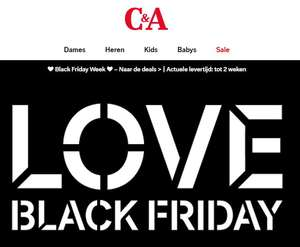 Black Friday week tot +-50% + 10% EXTRA @ C&A