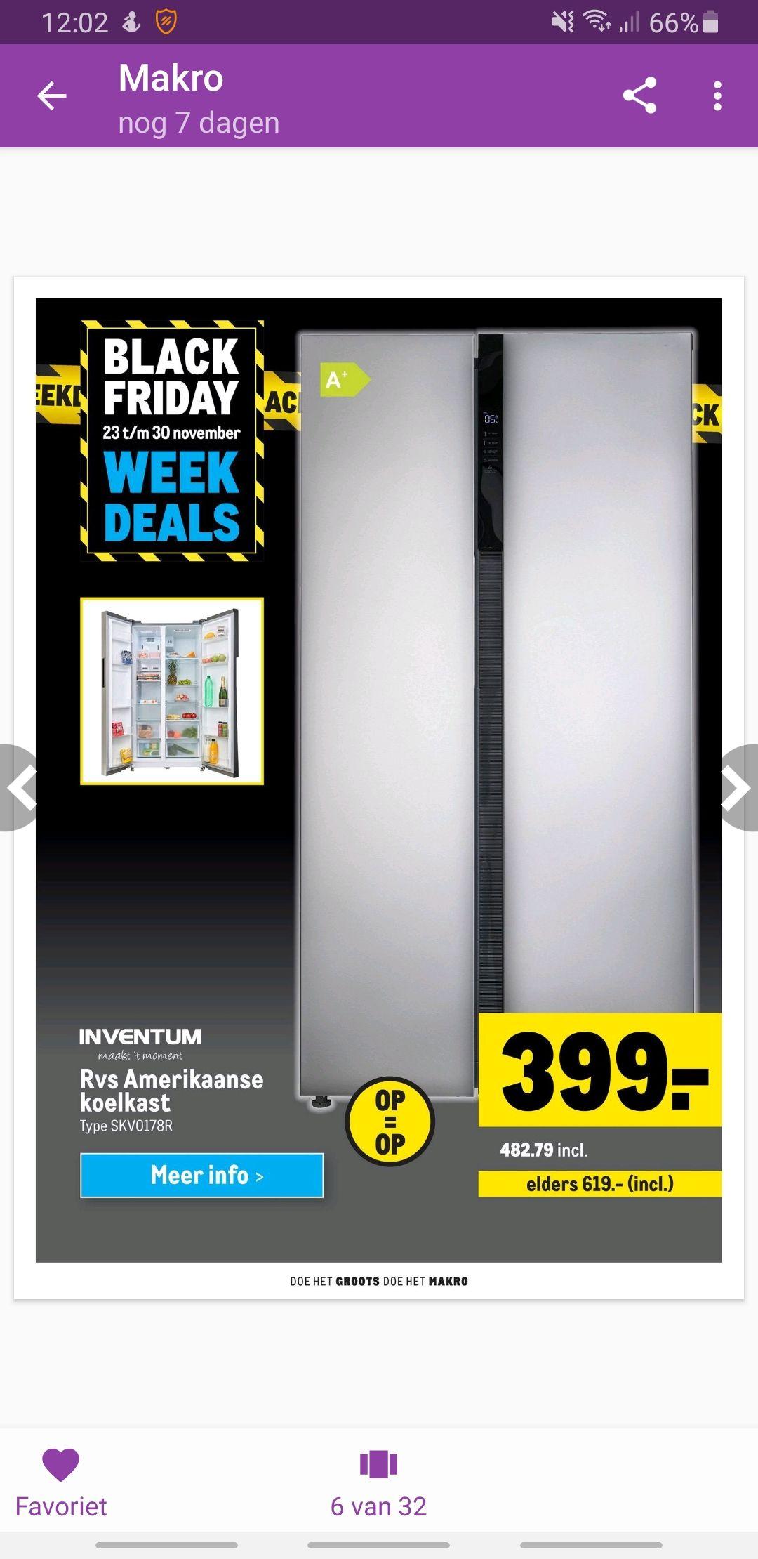 Inventum Amerikaanse koelkast