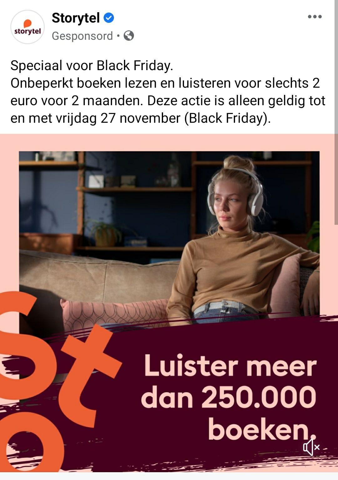 2 maanden Storytel voor 2 euro. (Ook bestaande gebruikers)