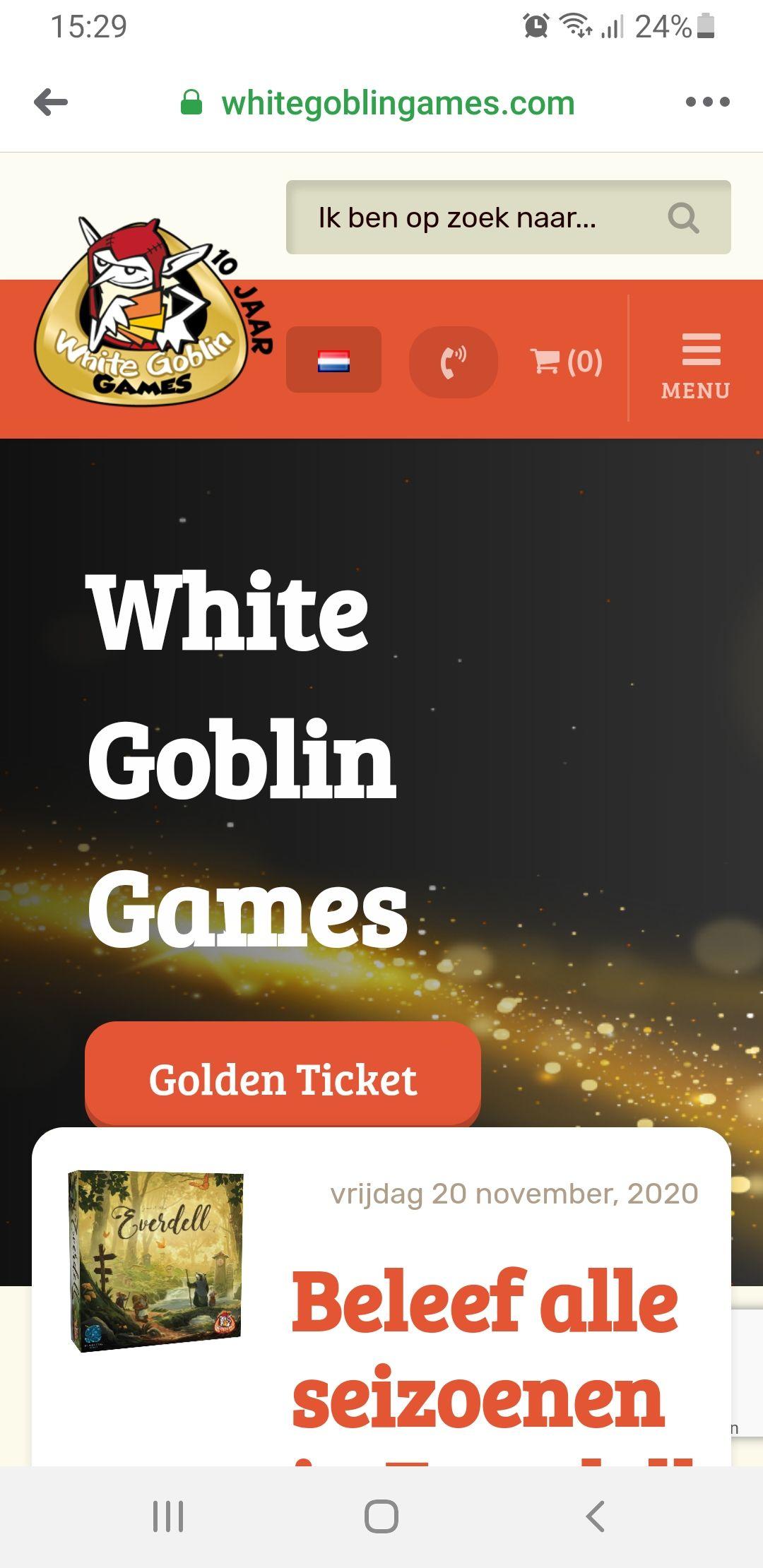 Black Friday bij bordspeluitgever White Goblin Games