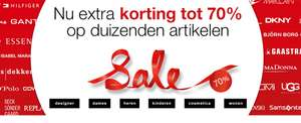 [UPDATE] De Bijenkorf sale nu veel items tot 70% korting