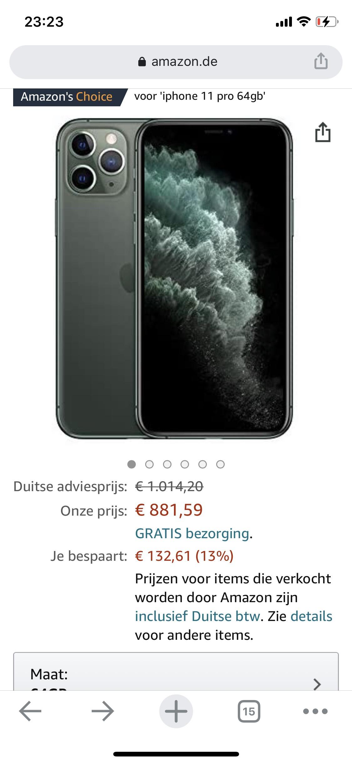 iPhone 11 Pro 64gb Middernachtgroen