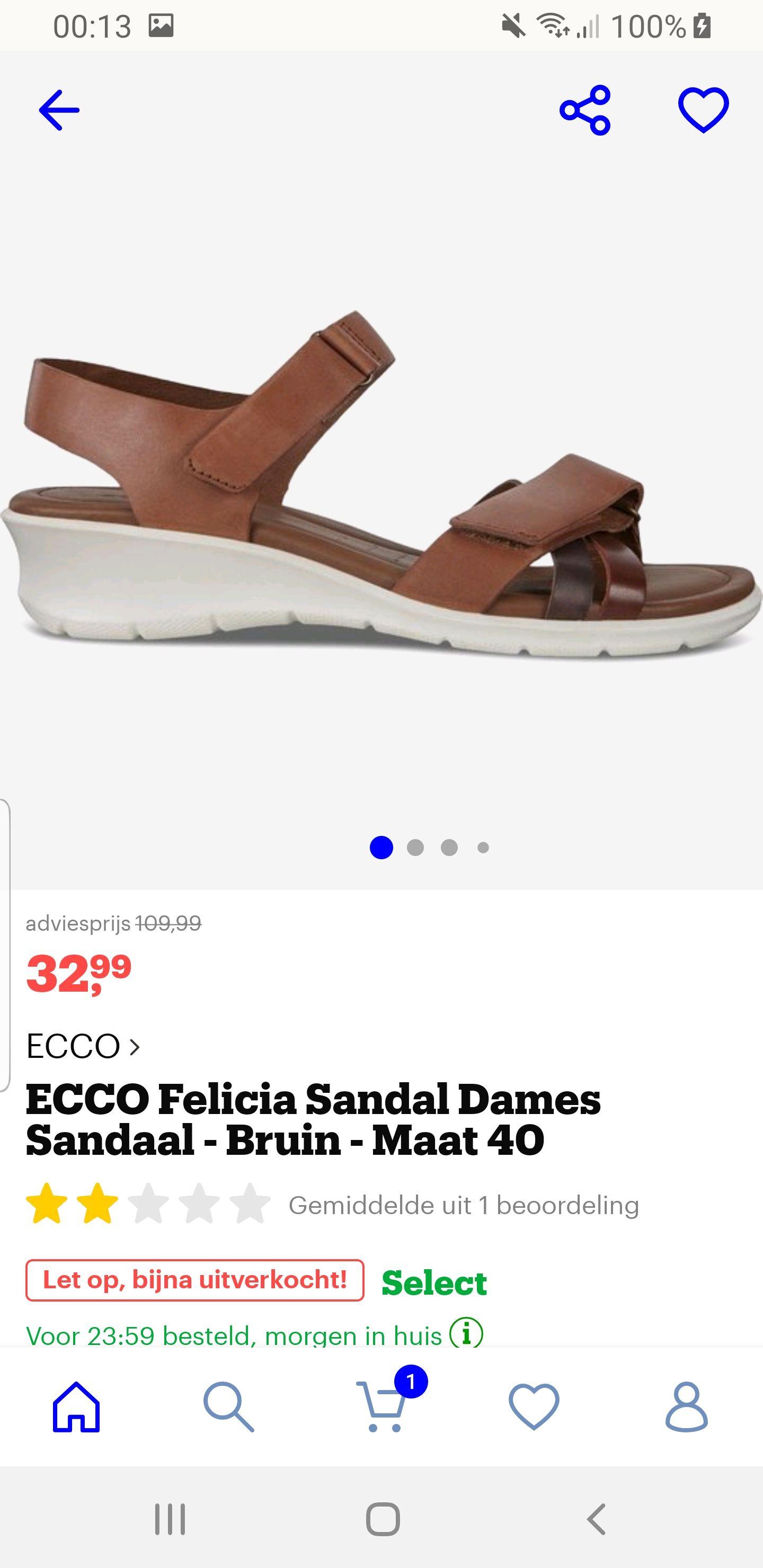Ecco Felicia sandaal maat 40