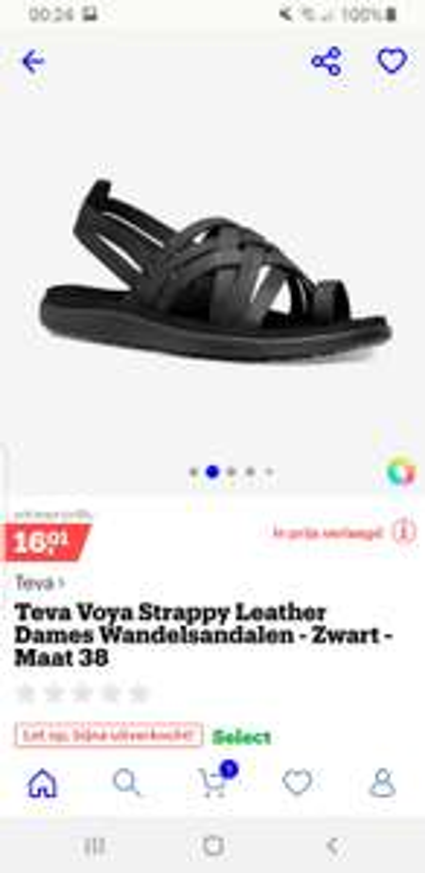 Teva Voya strappy maat 38 leren dames wandel sandalen