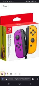 Nintendo Switch Joy-cons paars/oranje
