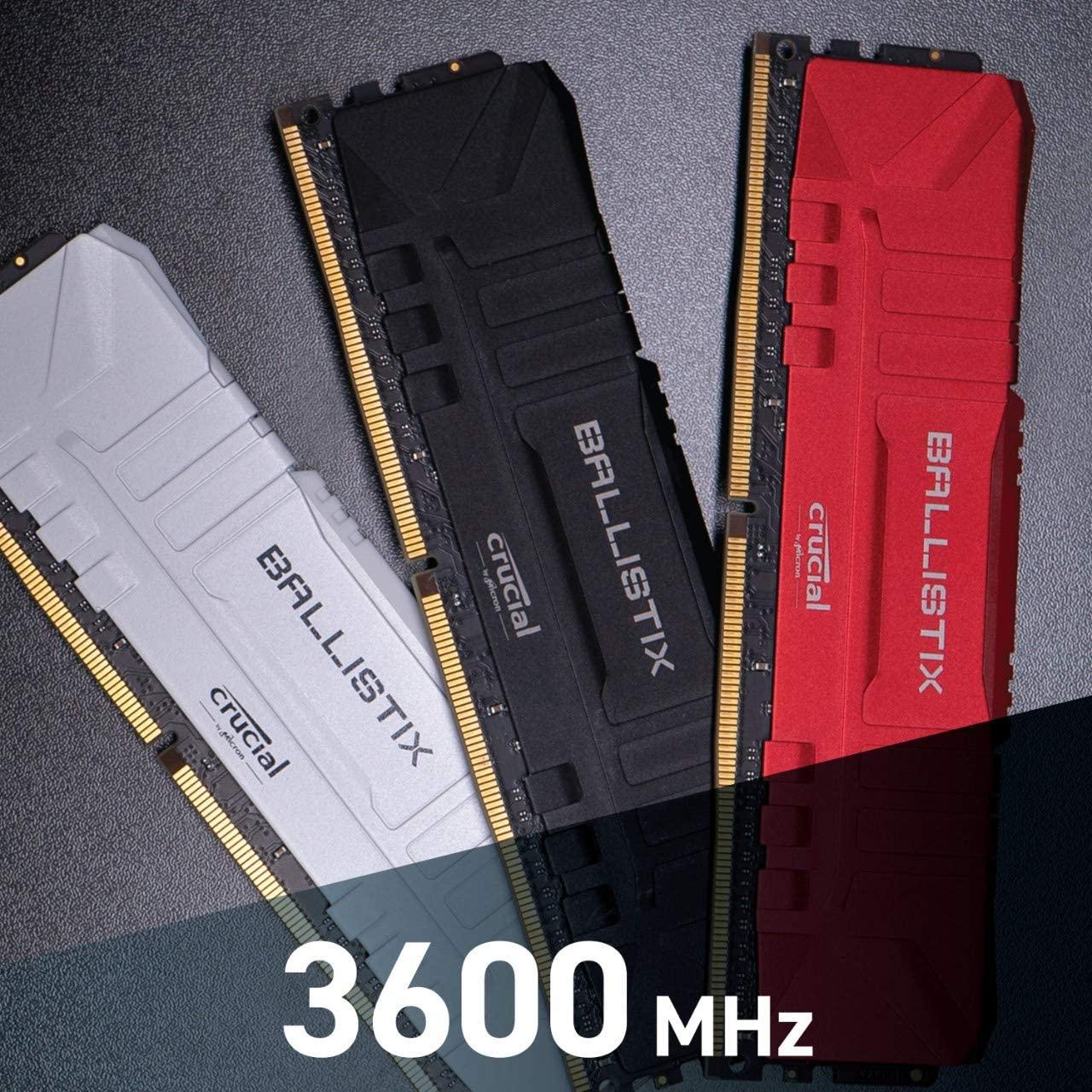 Crucial Ballistix Desktop Gaming Memory Kit Snelheid: 3600 MHz, CL16 (2x8GB)