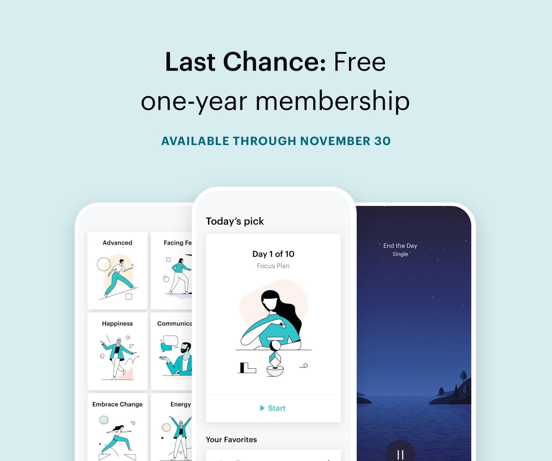 meditatie app Balance 1e jaar gratis (iOS)