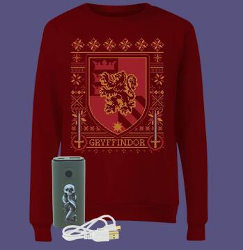Harry Potter Gryffindor sweatshirt + Harry Potter Powerbank voor €21,99