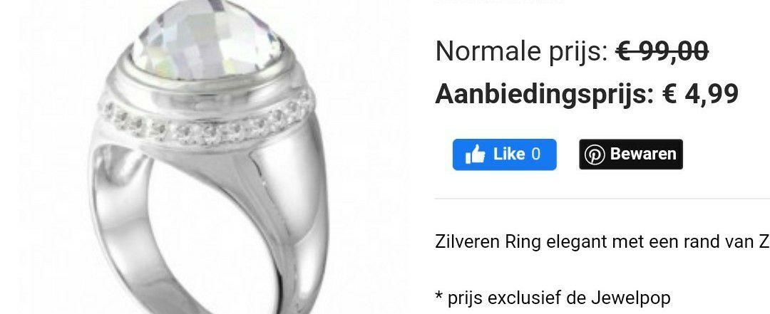 Zilveren ringen met verwisselbare steen