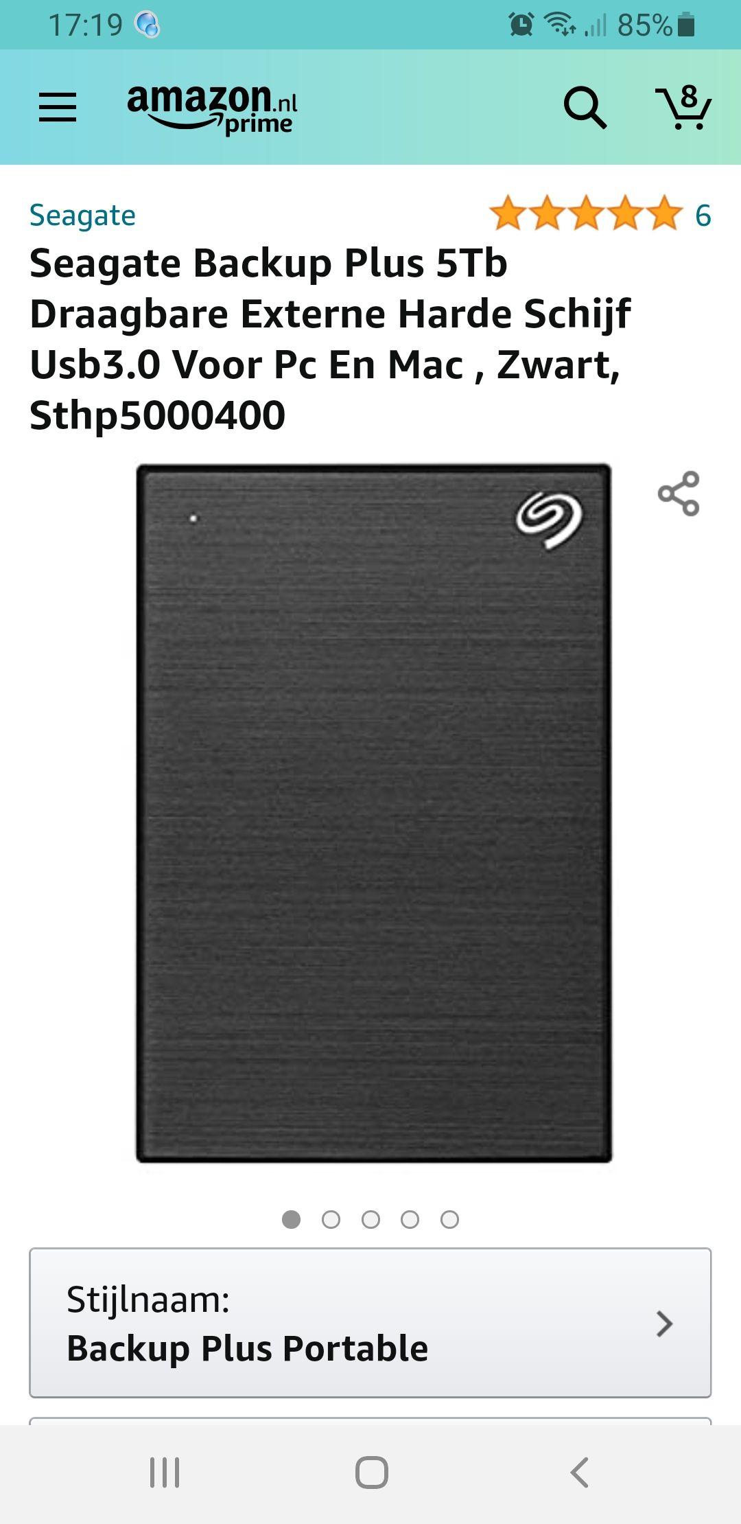 Seagate backup plus 5TB (STHP5000400)