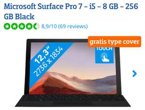 Microsoft surface pro 7 i5 8 gb 256gb Black