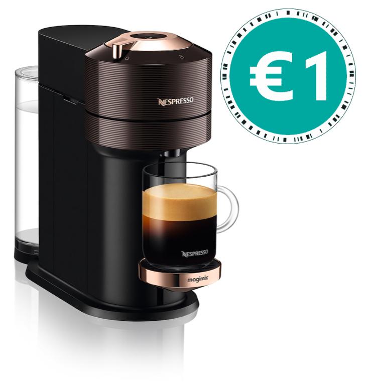 Nespresso België Vertuo NEXT 1 euro bij 250 capsules
