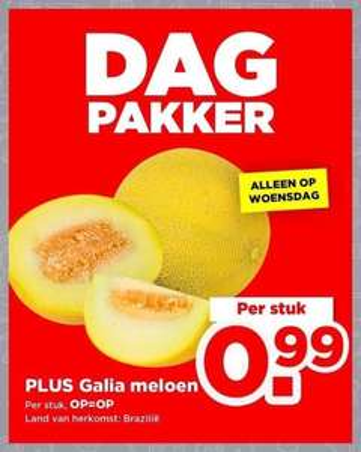 Galia Meloen €1 @ Plus DagPakker