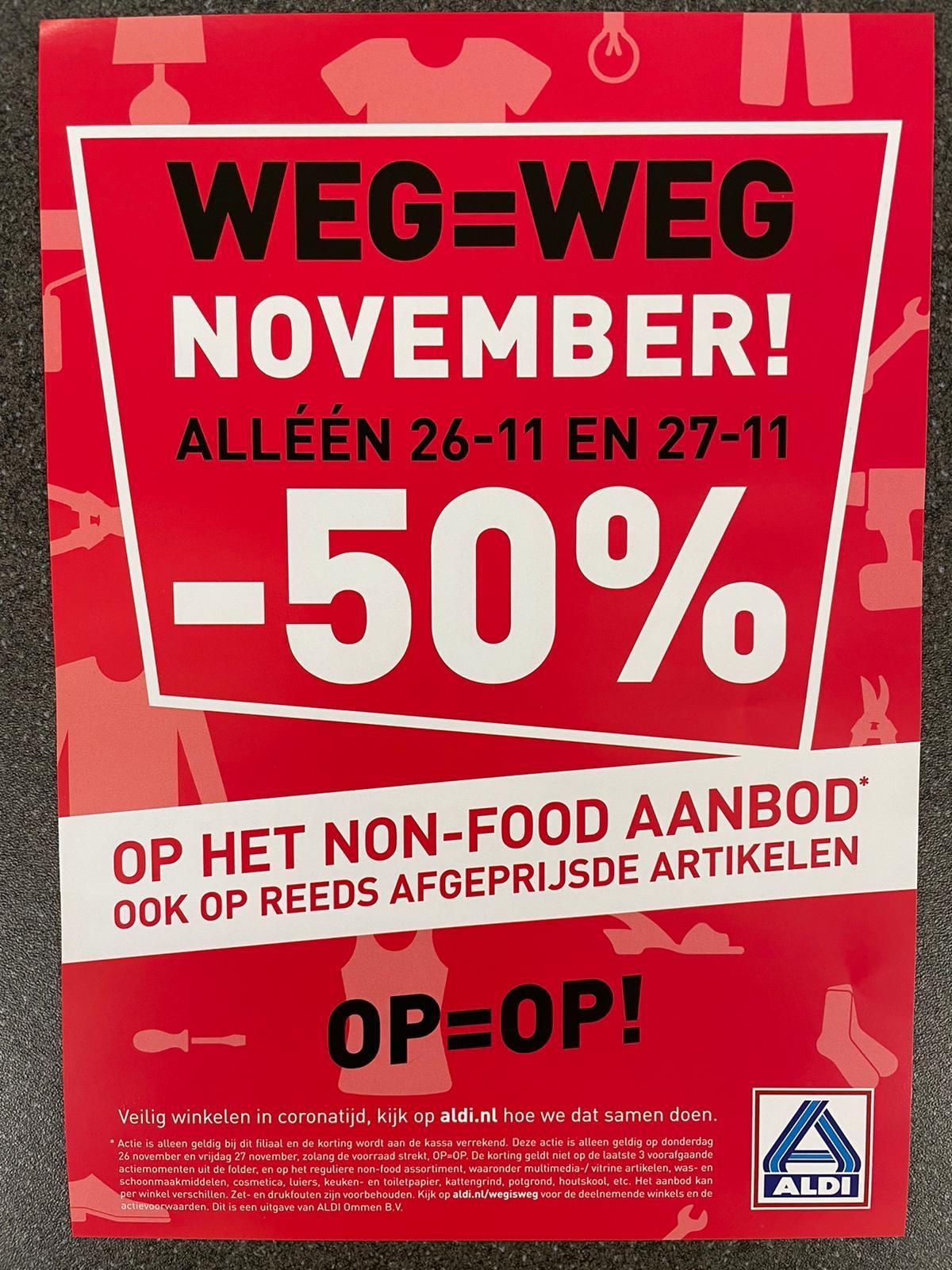(Oost-Nederland) Aldi 50% korting op non food