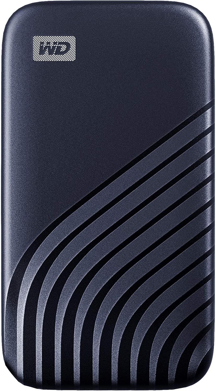 WD 2TB My Passport draagbare SSD USB-C, lees tot 1050 MB/s en schrijf tot 1000 MB/s - Donkerblauw