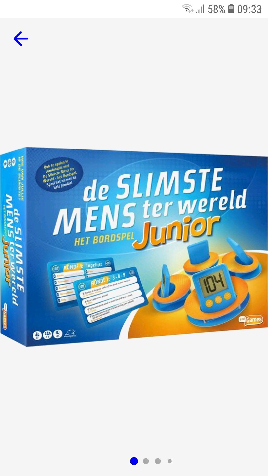 De Slimste Mens ter Wereld Junior Bordspel