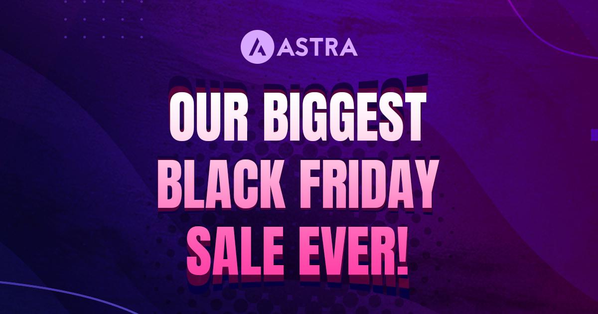 [Black Friday] WordPress Astra thema