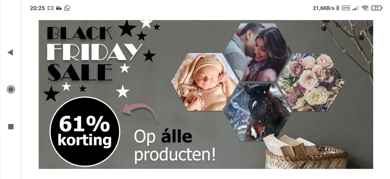 Fotocadeau.nl Black Friday deal