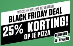 25% Korting op alle pizza's @ New York Pizza