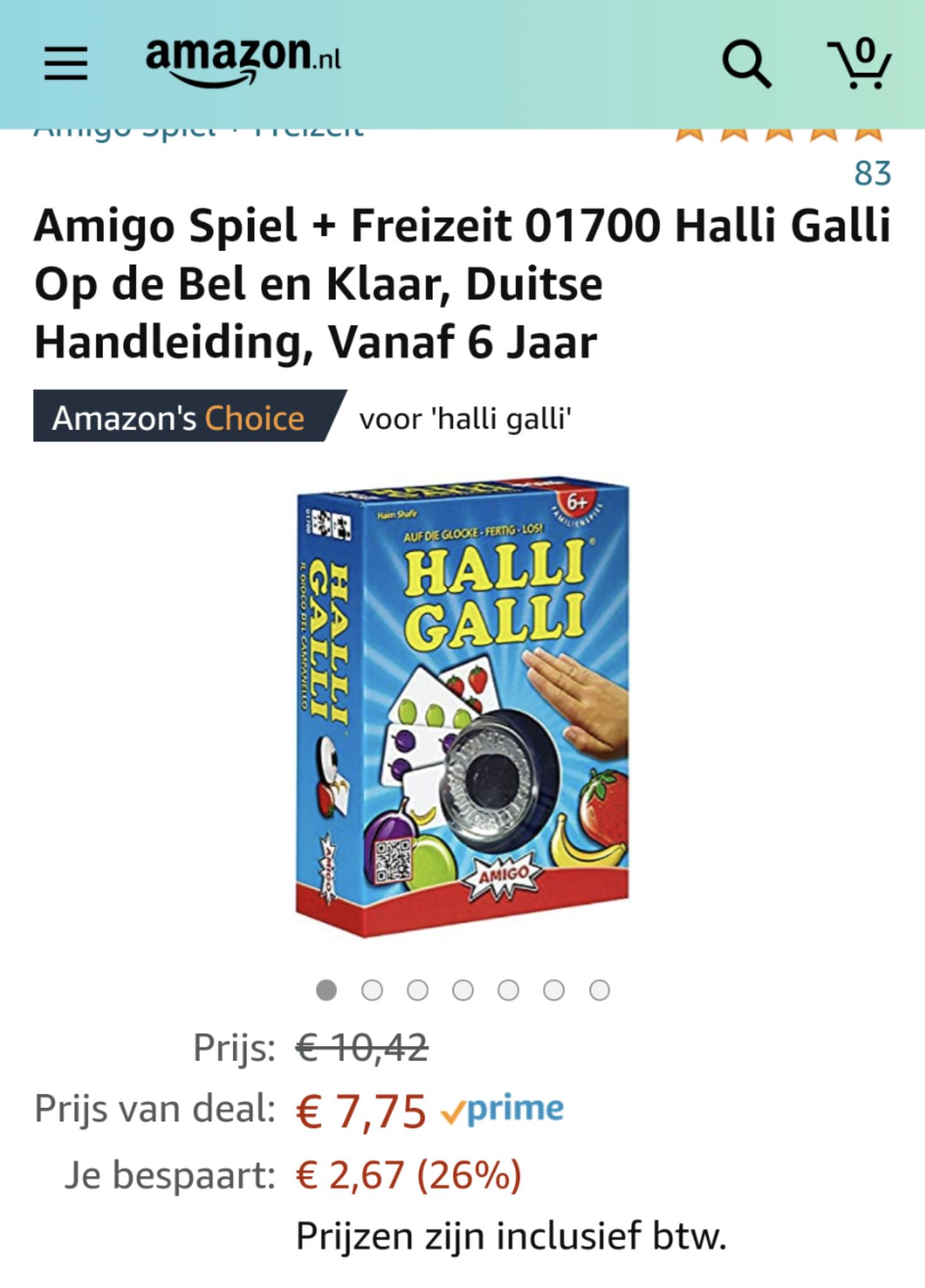 Fantastisch gezelschapsspel, Hali Gali voor bijna de helft @ Amazon