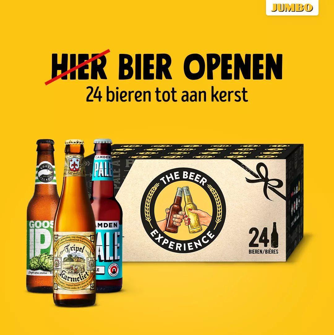 Adventskalender Speciaalbieren 24 flessen bij Jumbo (online)