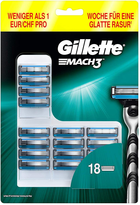 18 stuks Gilette Mach3 scheermesjes
