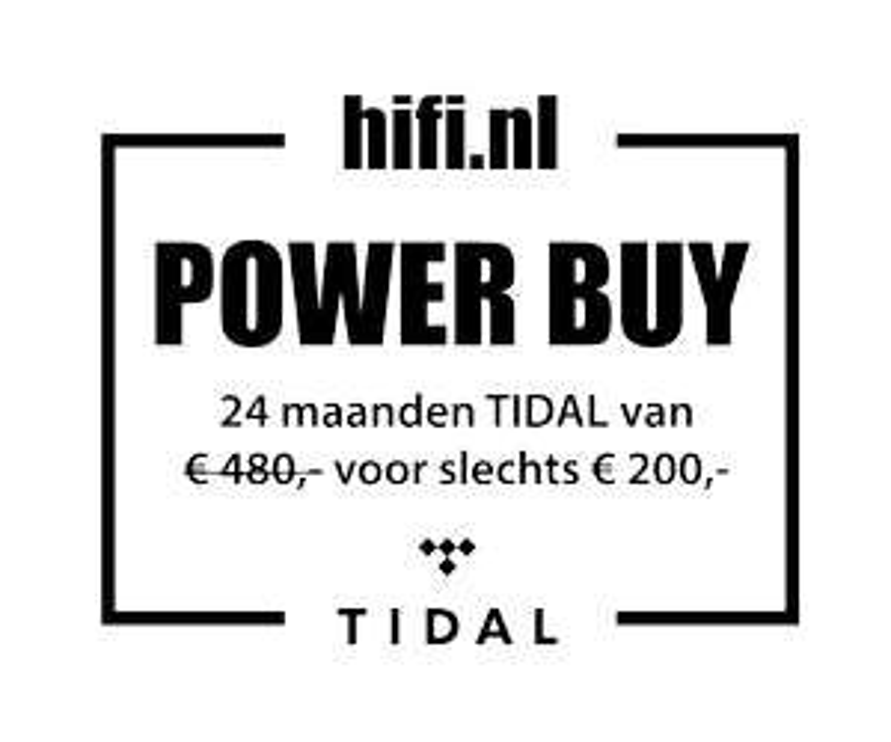 2 jaar Tidal HiFi voor € 200 i.p.v. € 480