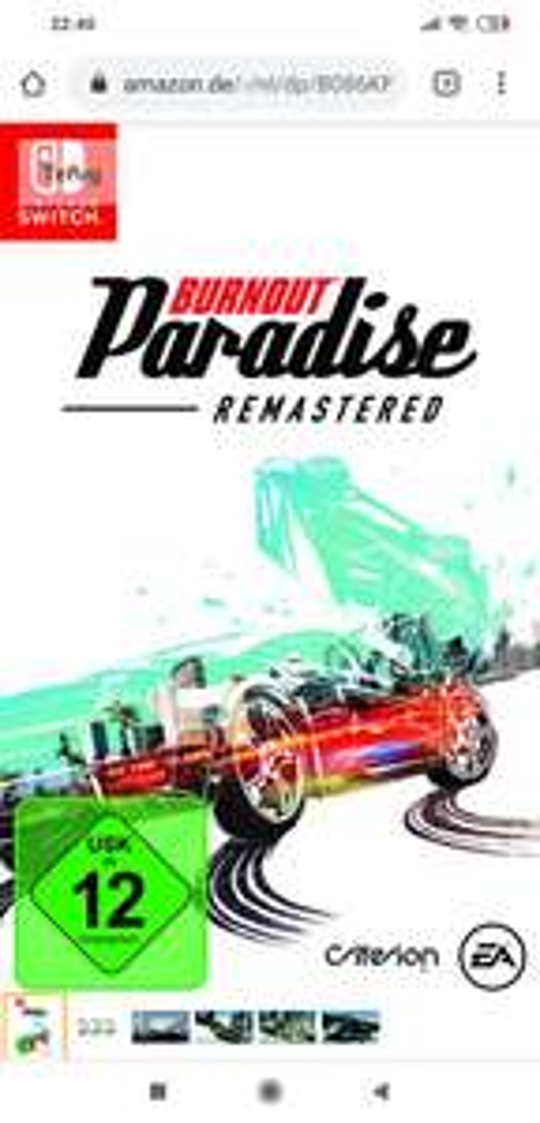 (Switch) Burnout paradise remasterd