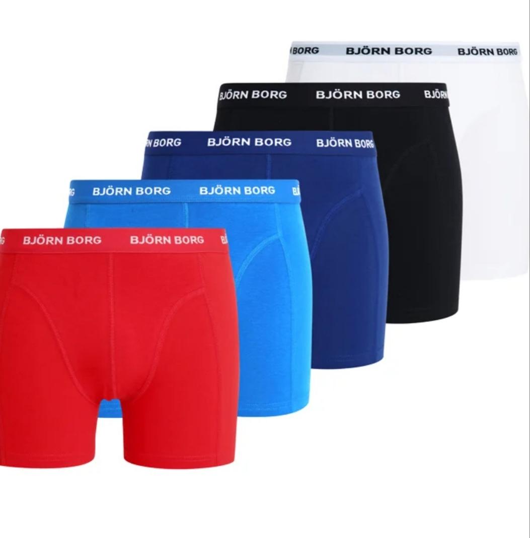 Bjorn Borg SOLIDS 5 PACK - boxershorts