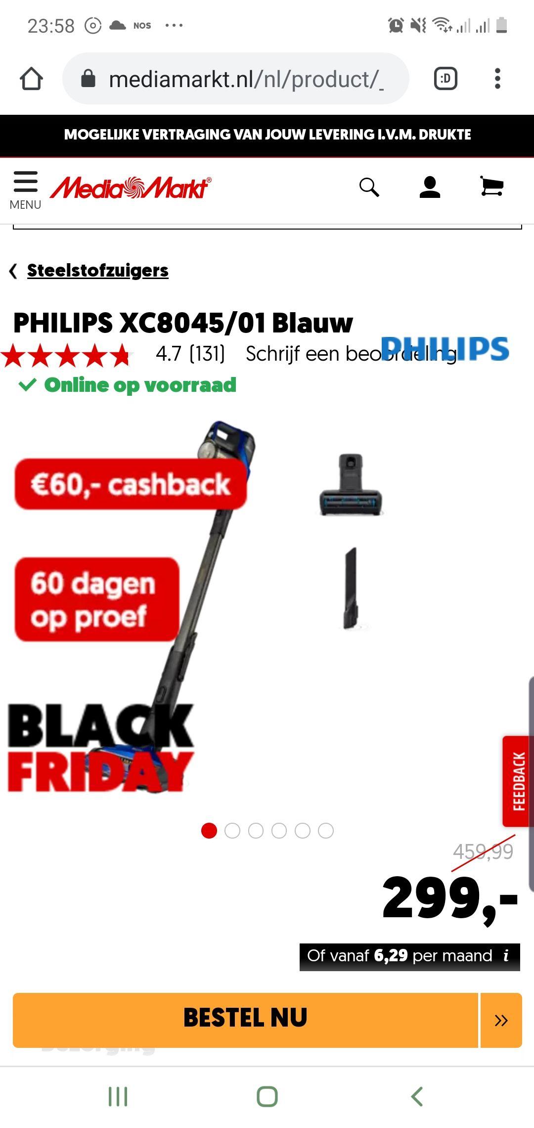 Philips speedpro xc8045 (steelstofzuiger)