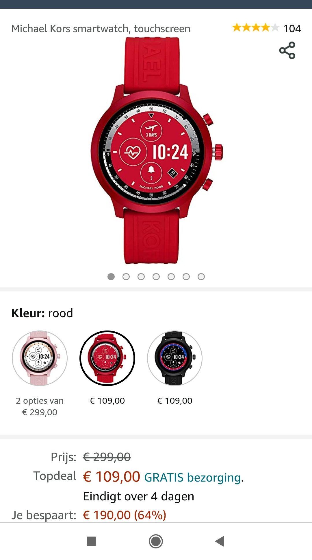 Michael Kors smartwatch, touchscreen