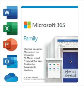Office 365 Family code in een doosje