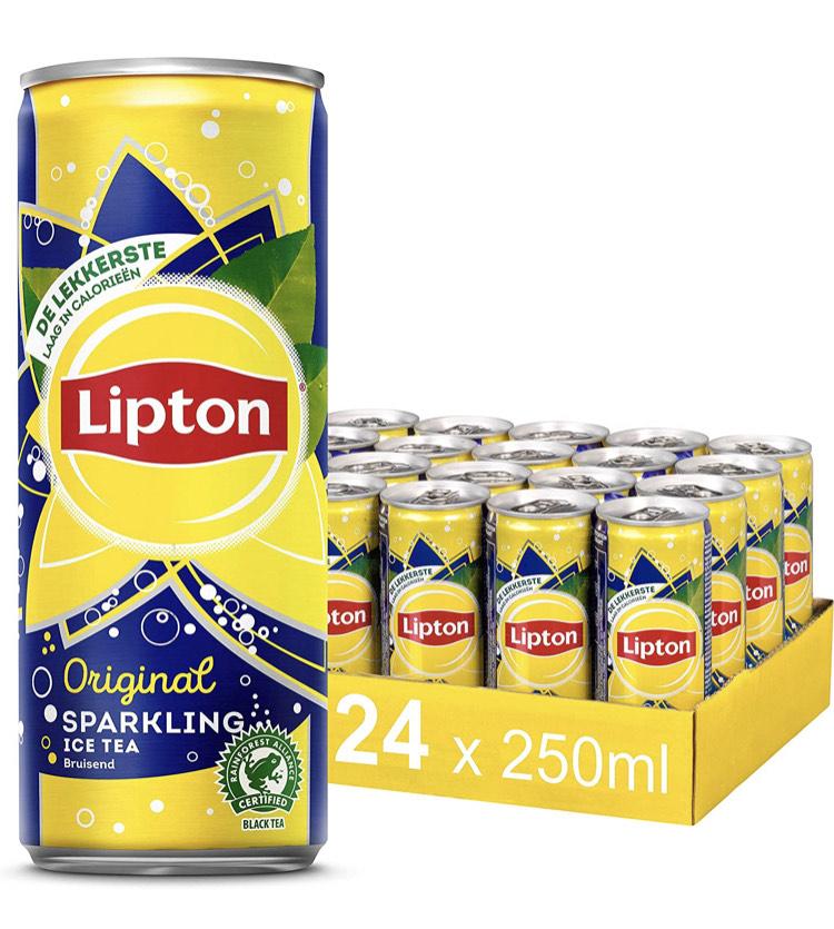 Lipton Ice Tea Sparkling Orginal 24 x 250ML - Voordeelverpakking