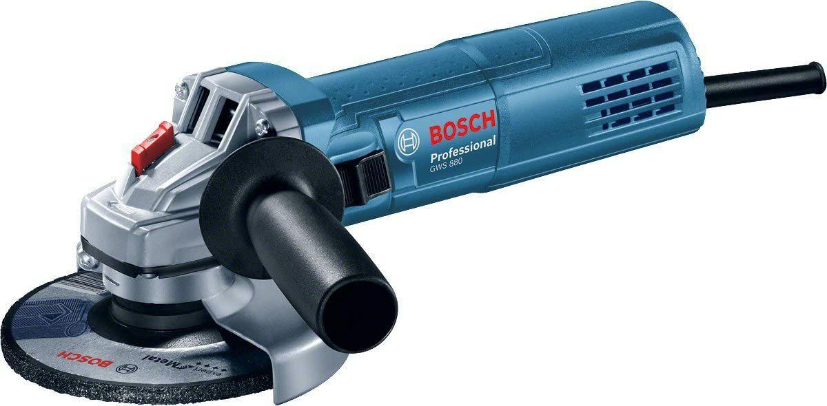 Bosch Professional Gws 880 Hoekslijper, 880 Watt, Diameter Schijven 125 Mm, Stationair Toerental: 11.000 Min-1, in Doos)
