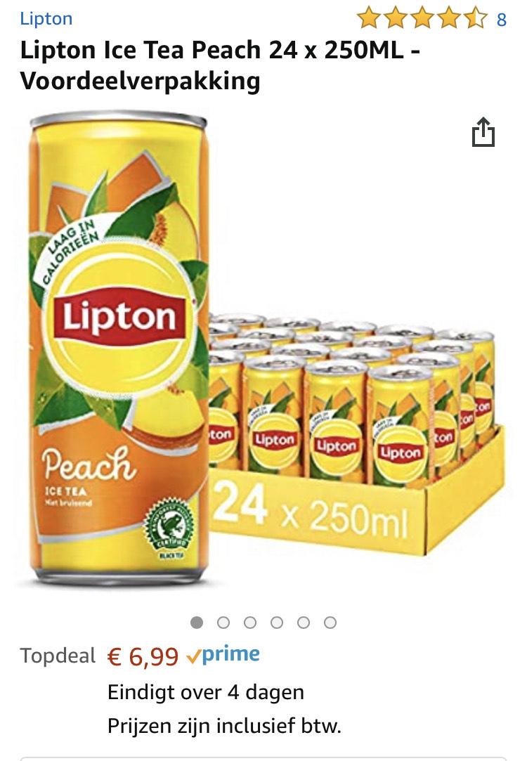 Lipton Ice Tea Peach 24 x 250ML - Voordeelverpakking