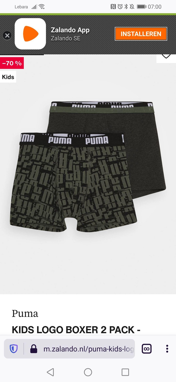 Puma Kids Boxer ondergoed(2stuks)