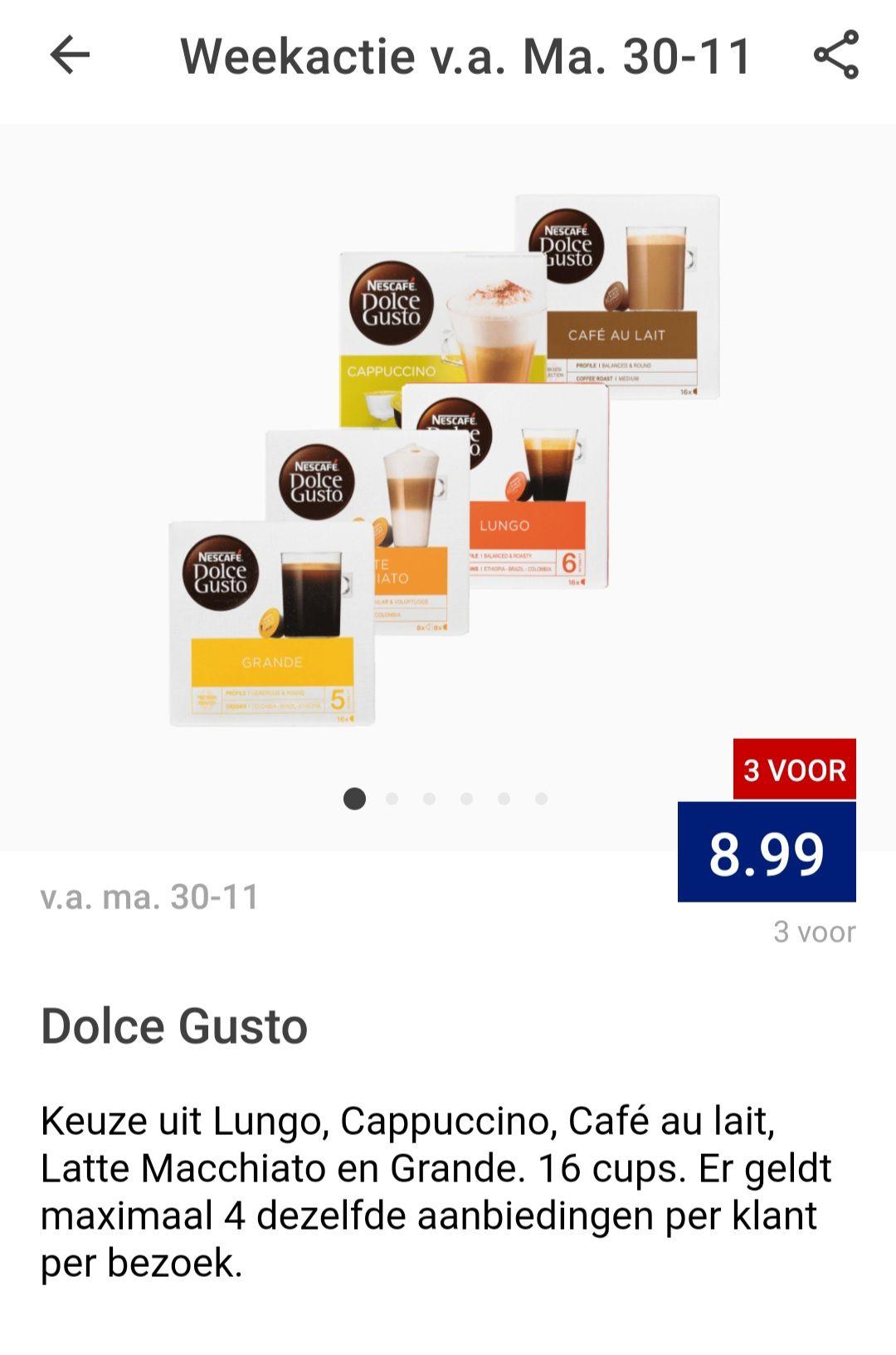 3 pakken Nescafé Dolce Gusto