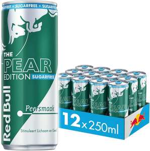 Red Bull Energy Drink, Sugarfree Pear Edition, 250ML (12-pack)