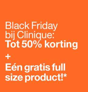 Clinique black friday tot 50% korting en gratis cadeau