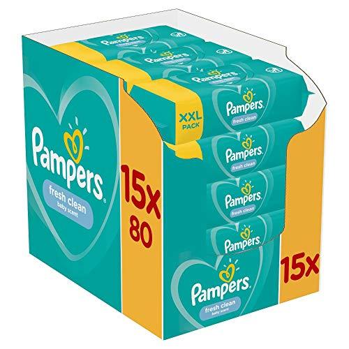 Pampers Fresh Clean Babydoekjes 15 Verpakkingen Met 80 Doekjes